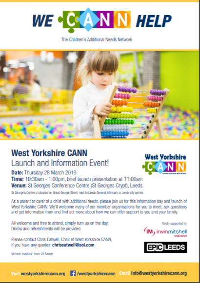 West Yorkshire CANN Launch and Information Event